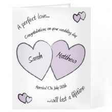 Perfect Love Wedding Card